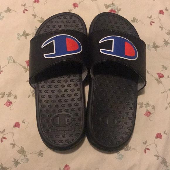 Champion Other - Champion Black Slide sandals boys size 1 US.